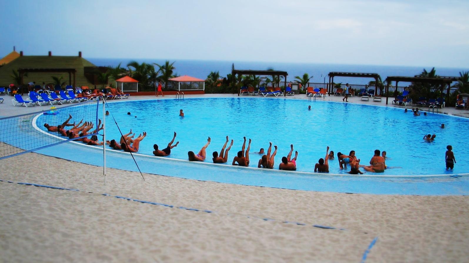 Wassergymnastik im Prinzess Hotel auf La Palma