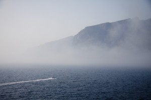 Fahrt in den Nebel