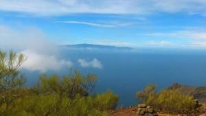 Blick auf La Palma vom Guergues Steig
