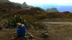 Einstieg - Casas de Arazo im Hintergrund
