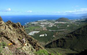 Ausblick vom Risco Steig auf die Nordküste um Buenavista del Norte