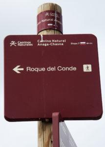 gute Ausschilderung zum Roque del Conde