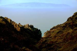 Blick in den Barranco Seco und auf La gomera