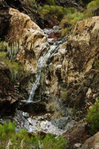 Wasser im Barrancobett