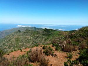 Blick von der Degollada de la Mesa