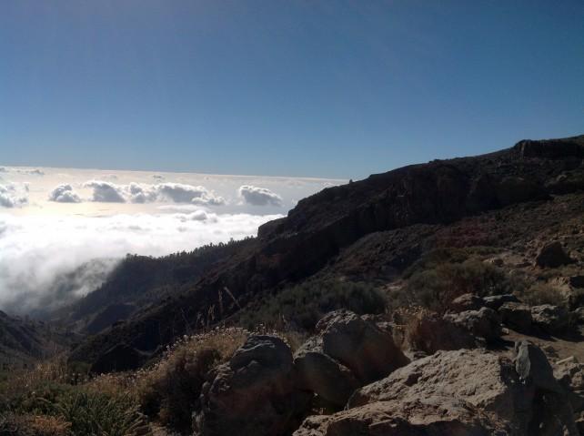 Wanderung über den Wolken