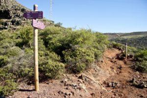 Weggabelung vor dem Ort Igualero