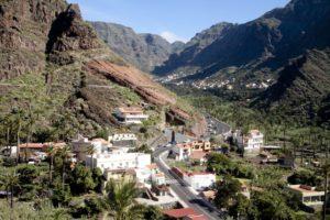 Blick über El Guro ins obere Valle Gran Rey