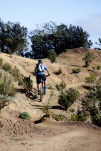 auch Mountainbiker sind auf der Cumbre de Chijeré unterwegs