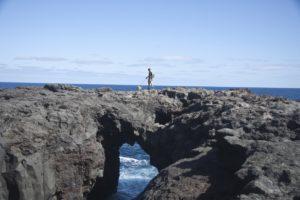 Wandern über Felstore