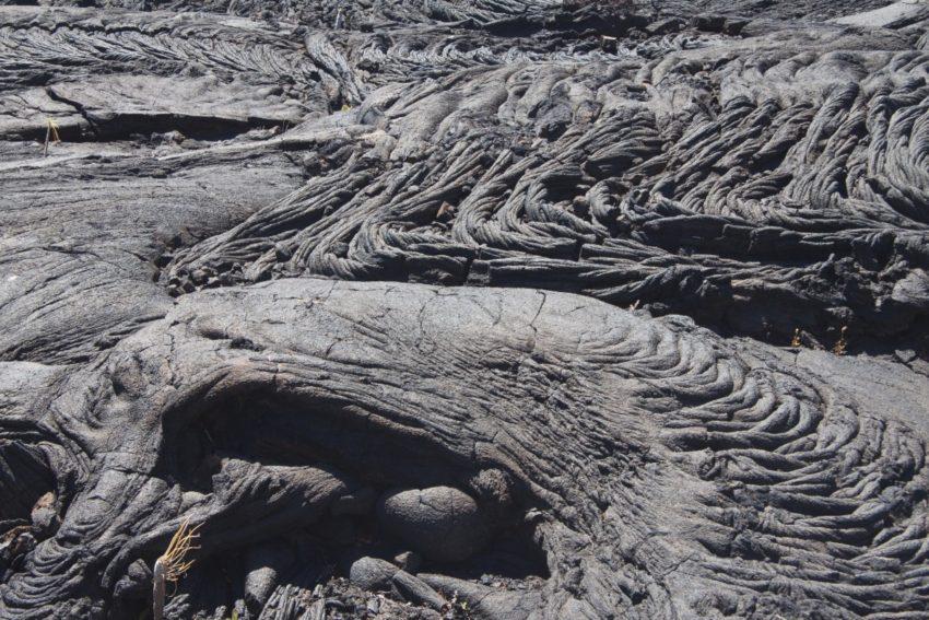 von der Natur hergestellte Lavamuster