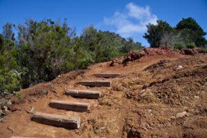 Stufen erleichtern den Aufstieg