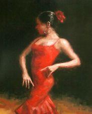 Klassische Flamenco-Tänzerin