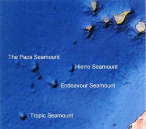 Seamounts südwestlich von El Hierro (verändert nach Google Earth)