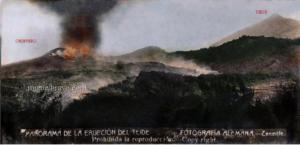 Historisches Foto der Chinyero-Eruption von 1909