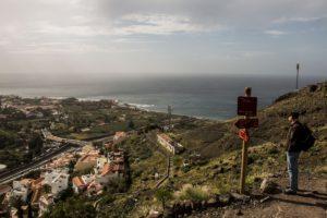 Blick auf La Calera aus der Höhe