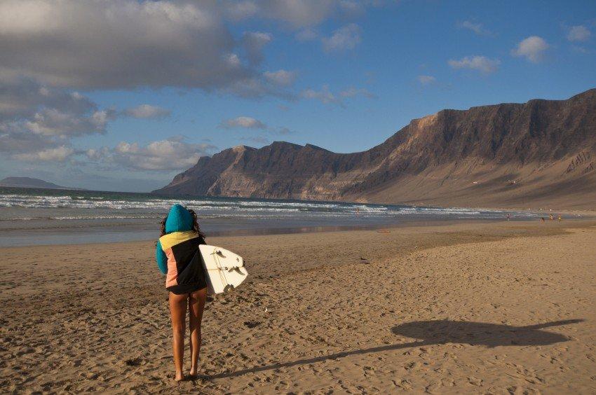 Am Strand von Lanzarote