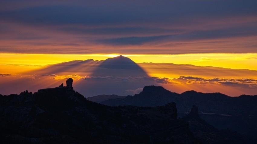 Gran Canaria Sonnenuntergang mit Teide