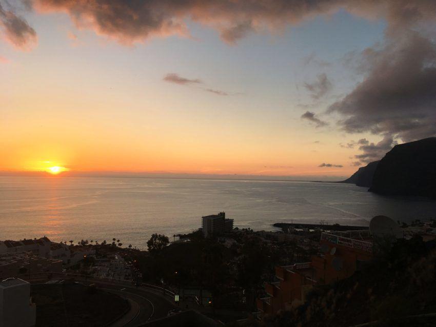 Los Gigantes Puerto Santiago Sonnenuntergang