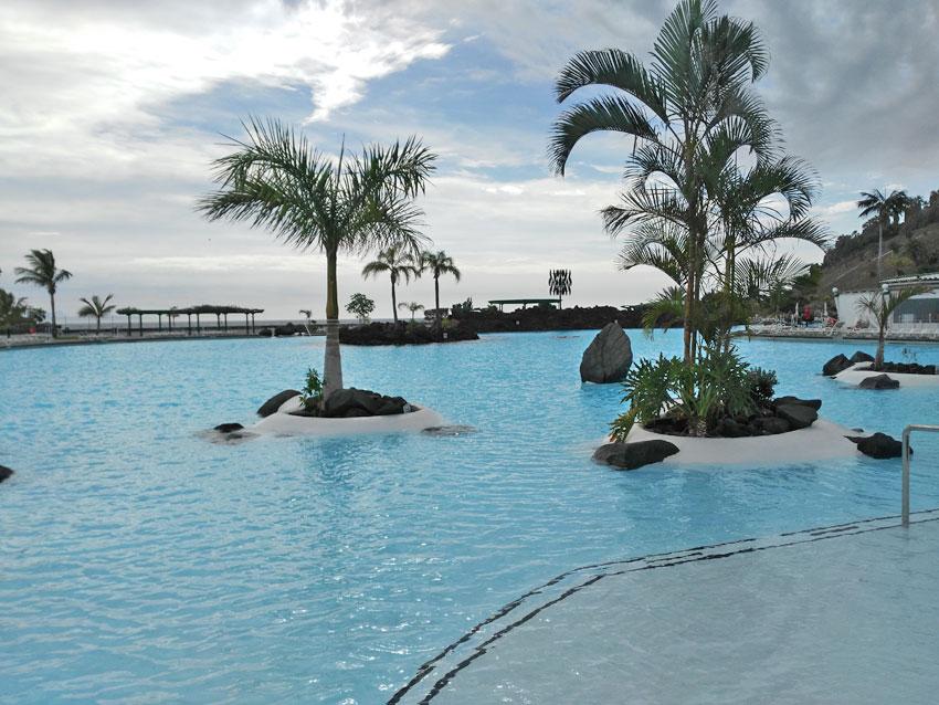 Die Meeresschwimmbecken in Santa Cruz