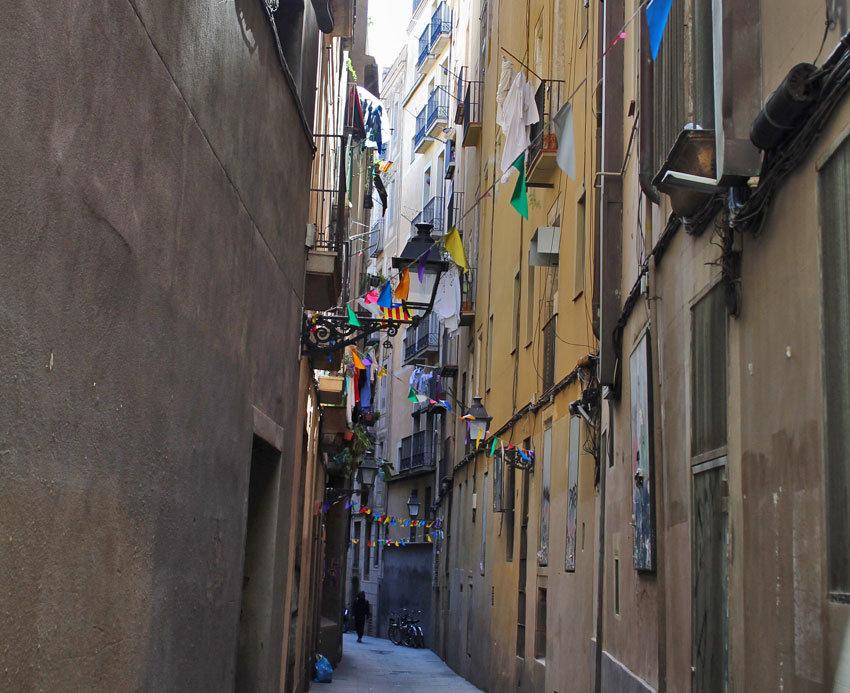 Urige Straßen in Barcelona