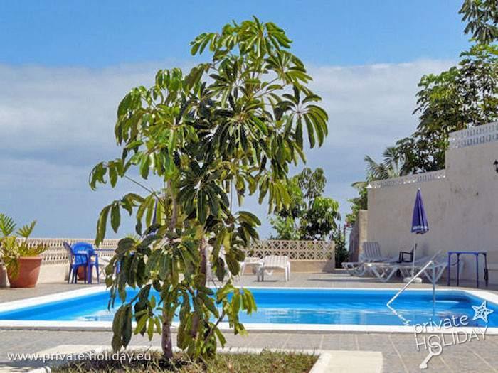 Der Poolbereich des Landhotels