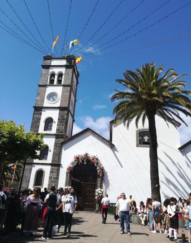 Kirche auf dem Festplatz der Romería