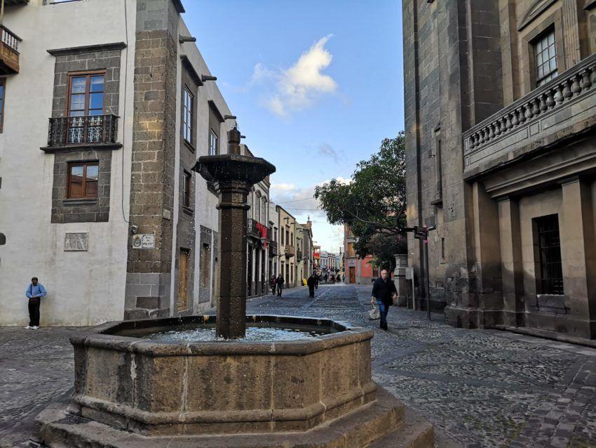 Altstadt mit Springbrunnen