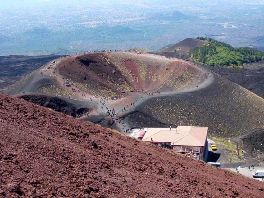 Krater des Ätna-Vulkans
