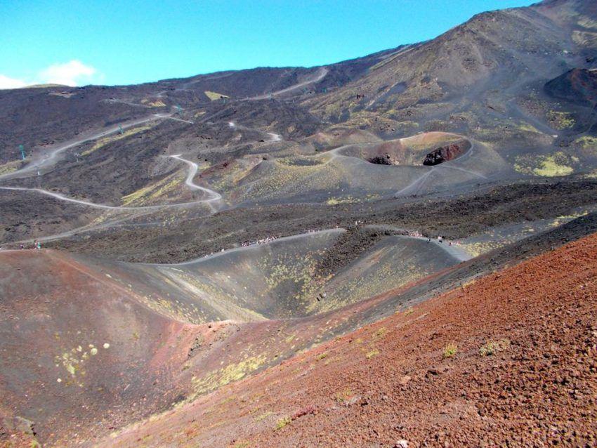 Vulkanlandschaft des Ätna-Vulkanes
