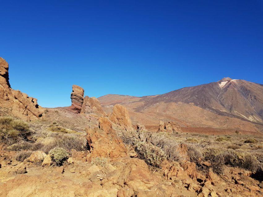 Aussicht auf den Teide und die Roques de Garcia