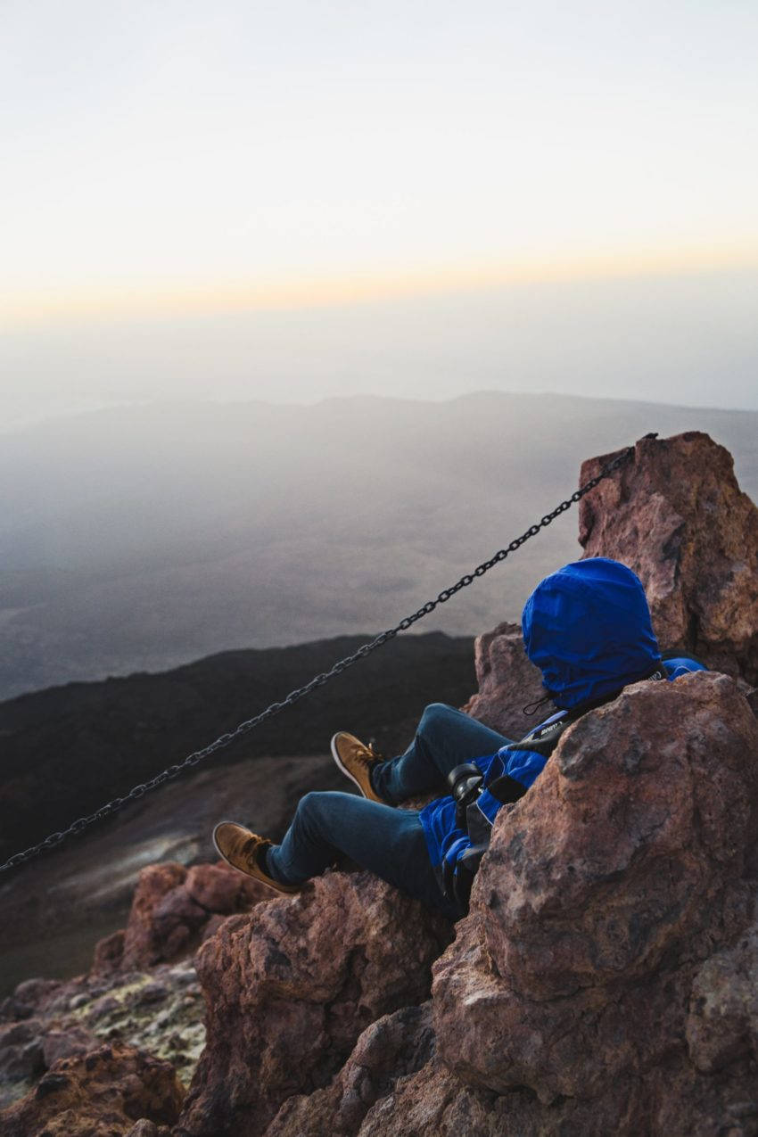 Pause am Gipfel