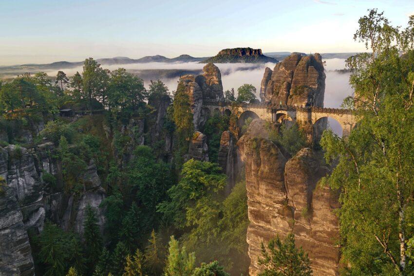 Felsformation Bastei in der sächsischen Schweiz