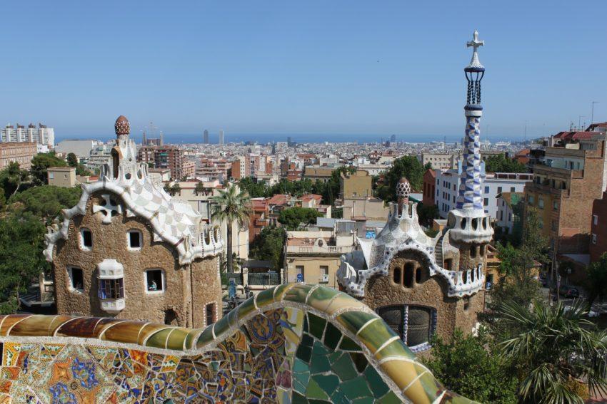 Blick auf Barcelona vom Park Guell