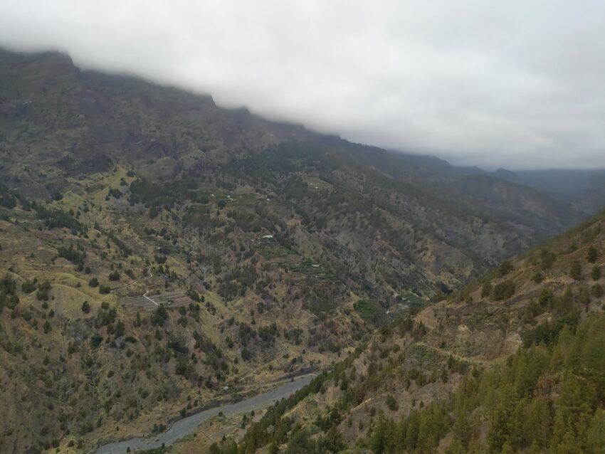Blick in die Barranco de las Angustias