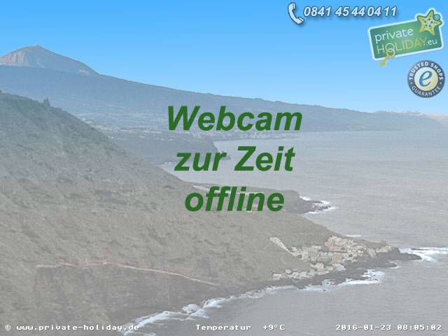 Webcam Teneriffa Nord
