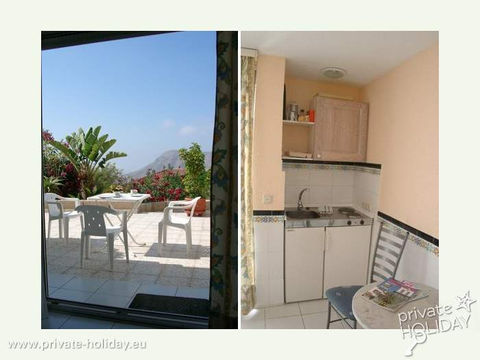 studio mit pool und terrasse in chayofa teneriffa s d. Black Bedroom Furniture Sets. Home Design Ideas