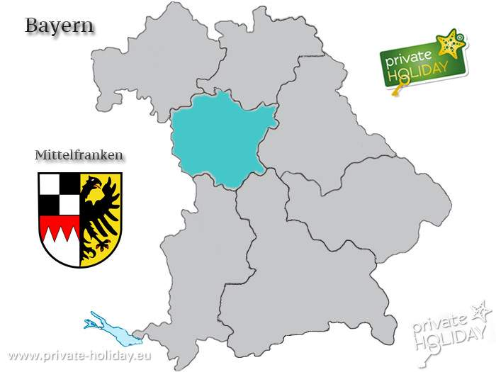 Mittelfranken Karte.Bildergalerie Lage Von Mittelfranken Auf Bayern