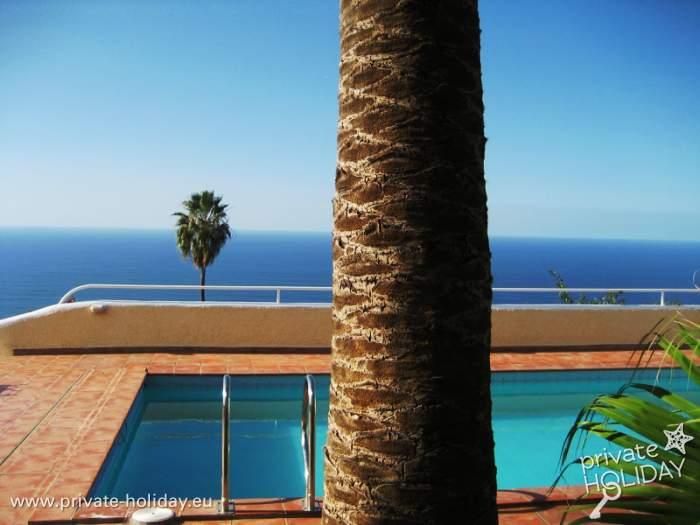 Ferienwohnung mit privatpool und meerblick in el sauzal for Garten pool nrw
