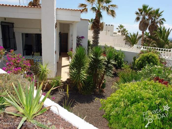ferienhaus mit pool terrassen garten in por s de abona. Black Bedroom Furniture Sets. Home Design Ideas