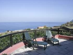 Ferienhaus mit Terrassen und Meerblick bei Puerto de la Cruz