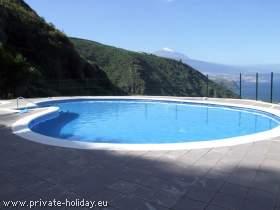 Studio mit Meerblick, Balkon und Pool in La Matanza-Teneriffa