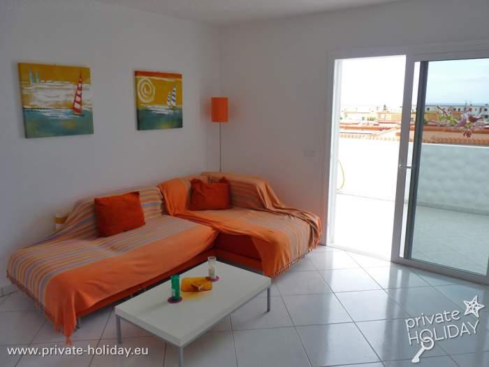 apartment mit sonnenterrasse und meerblick in costa calma. Black Bedroom Furniture Sets. Home Design Ideas