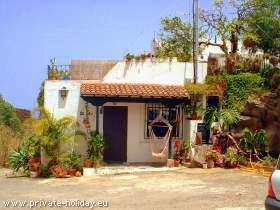 Haus mit Terrasse auf Bananen-Finca bei Puerto de la Cruz