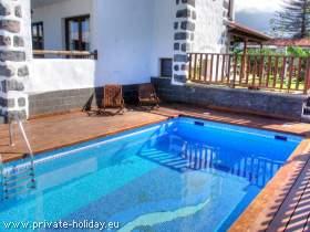 Haus mit Terrasse, Garten & Pool in La Paz - Puerto de la Cruz