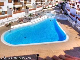 Apartment mit Terrasse und beheizbarem Pool in Los Cristianos