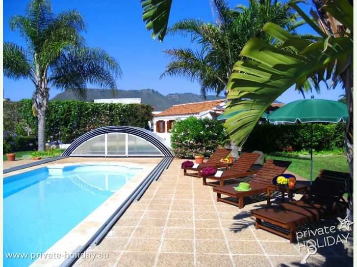 Ferienhaus Teneriffa Mit Pool , Haus Auf Finca Mit Pool Spielplatz Terrassen Und Gärten