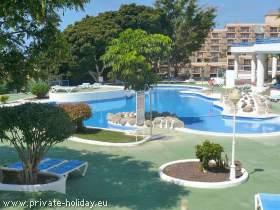 Ferienwohnung, strandnah mit Balkon und Pool in Playa Paraíso