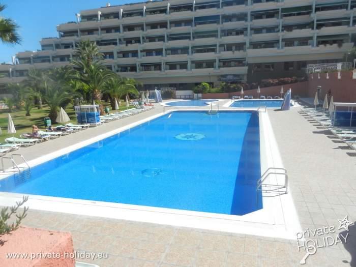Apartment mit pool und garten an der playa jardin for Garten pool nrw