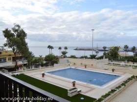 Ferienwohnung in Los Cristianos mit Pool und direkt am Strand